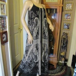Express Black & Gray Maxi Dress size XS